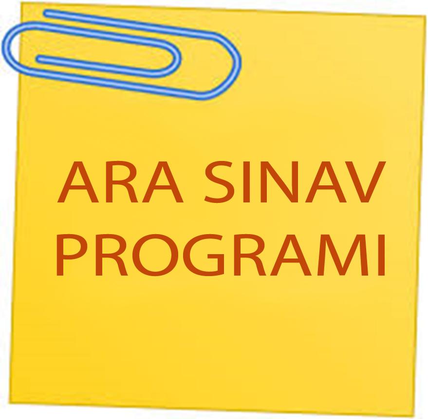 2018-2019 Eğitim-Öğretim Yılı Bahar Yarıyılı Ara Sınav Takvimi