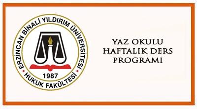 2019-2020 YAZ OKULU HAFTALIK DERS PRG