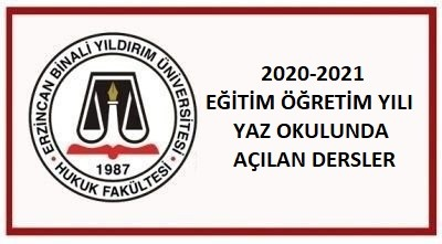 2020-2021 EĞİTİM ÖĞRETİM YILI YAZ OKULUNDA AÇILAN DERSLER